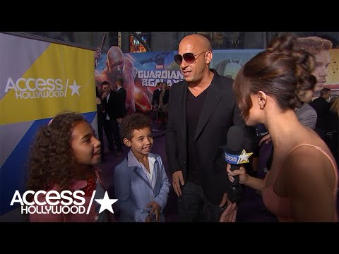 Vin Diesel's Kids Steal The Show At The 'Guardians Of The Galaxy Vol. 2' Premiere!
