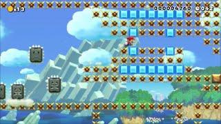 【Super Mario Maker】クリア率0.01%(10/185518) スペイン最上級難易度の疾走鬼畜コースに挑戦【マリオメーカー】 thumbnail