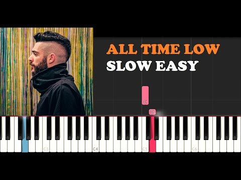 Jon Bellion ft. Stormzy - All Time Low (SLOW EASY PIANO TUTORIAL)