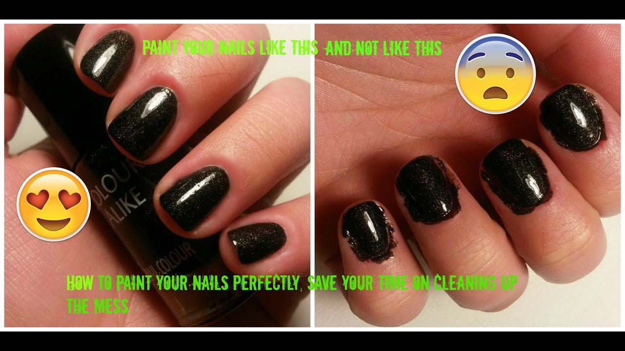 HOW TO: Paint your nails perfectly and easily - YouTube
