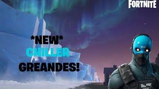 *NEW* COBALT SKIN AND CHILLER GRENADES! (Fortnite Battle Royale)