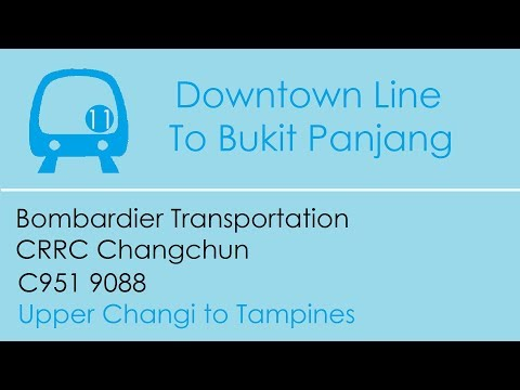 [Long Distance] SBST DTL Train Ride [Upp Changi → Tampines] - Bombardier C951 9088