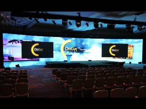 Conference Led Wall Set Up Oncue Staging Youtube