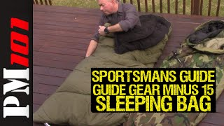 "Guide Gear Minus 15 Sleeping Bag ""Trust Me"" Review - Preparedmind101"