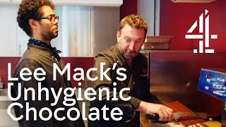 Richard Ayoade Disgusted By Lee Mack's Unhygienic Chocolate Making | Travel Man
