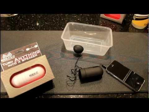 Rock-It 2.0 Portable 'Vibration' Speaker by Origaudio