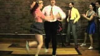 Toe The Line And Reverse Drag Jam - Lindy Hop Dance Lesson, Jo Hoffberg, Kevin St. Laurent #1501