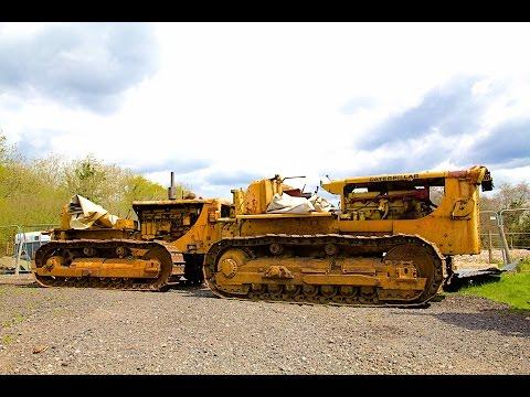 Tow Starting Caterpillar D8 Bulldozer