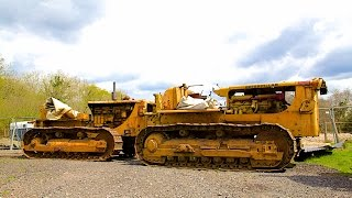 Tow Starting Caterpillar D8 Bulldozer