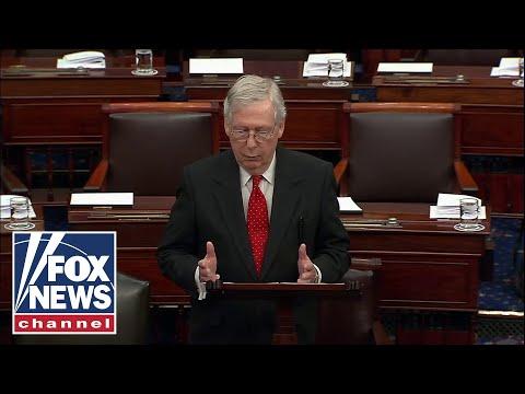 Sen. McConnell speaks on the Senate floor ahead of impeachment trial