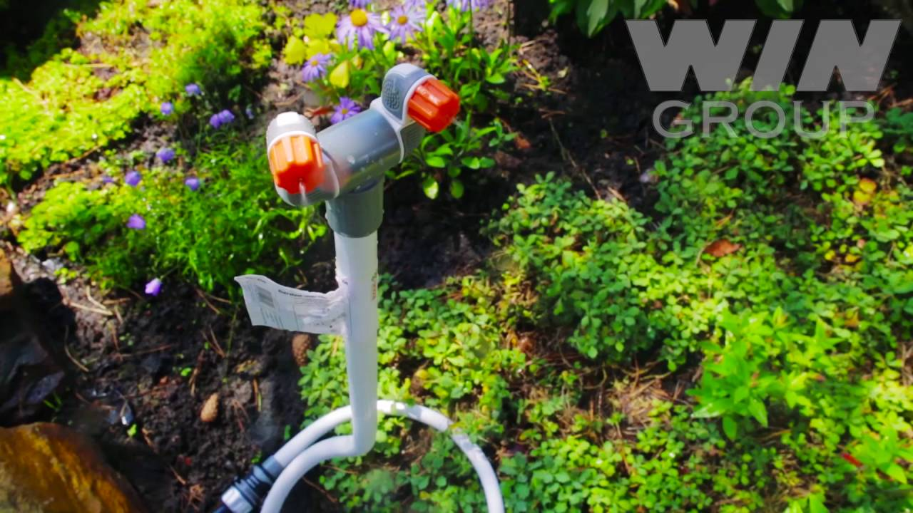 Дождеватель для огорода - Поливалка Рубикон - YouTube