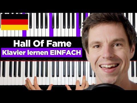 The Script - Hall Of Fame  - ft. will.i.am - Klavier lernen - EINFACH - deutsch