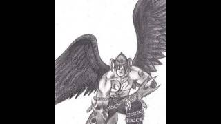 How to draw Devil Jin Kazama - Tekken