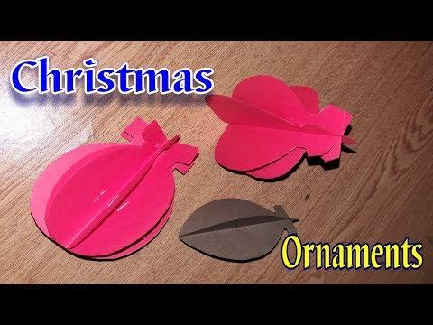DIY Christmas Ornaments || Christmas Decorations Ideas Using paper