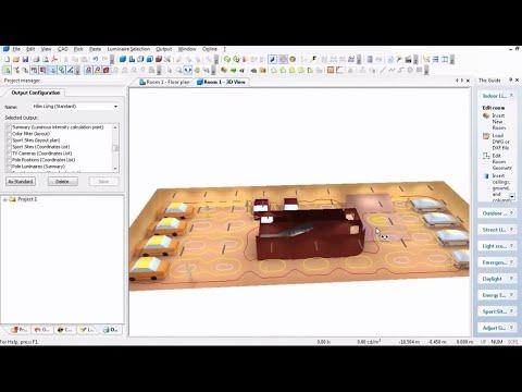 DIALUX 4.12 Use Guide – Hướng dẫn sử dụng phần mềm Dialux 4.12 thiết kế chiếu sáng cơ bản