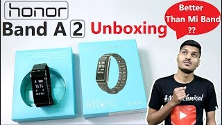 Honor Band A2 India Unboxing, First Look, & Hands on Review In Hindi Better Than Xiaomi band 2i HRX?