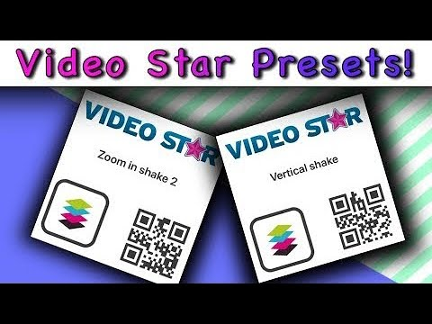 FREE VIDEO STAR QR CODES | VS PRESETS