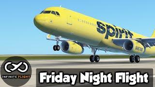 Infinite Flight • Friday Night Flight • A321-200 • Multiplayer