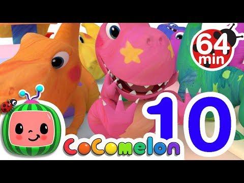 Dinosaur Number Song | + More Nursery Rhymes & Kids Songs - ABCkidTV