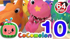 Dinosaur Number Song | + More Nursery Rhymes & Kids Songs - CoComelon