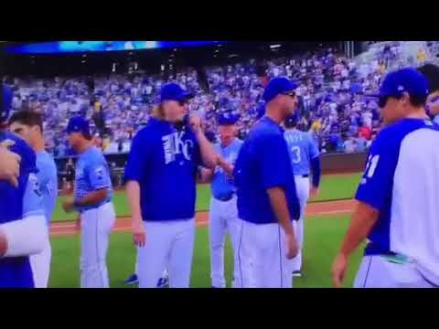 2017 KC Royals farewell to the 2015 World Series Champs