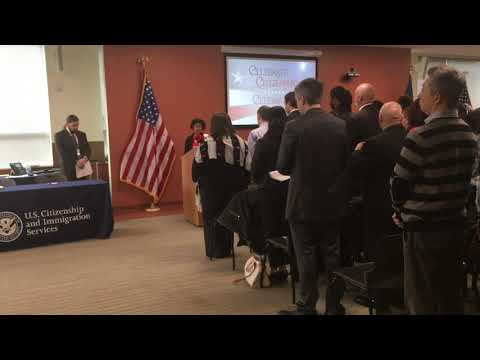 The Naturalization Ceremony, U.S.Citizenship and Immigration Services, Phila,. PA 11:00 am 1/7/2018