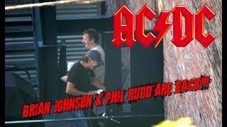 AC/DC : BRIAN JOHNSON & PHIL RUDD ARE BACK!!!!!!!