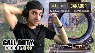 Mi PRIMERA PARTDA en Call of Duty Mobile Battle Royale SOLO (Nuevo COD GRATIS)