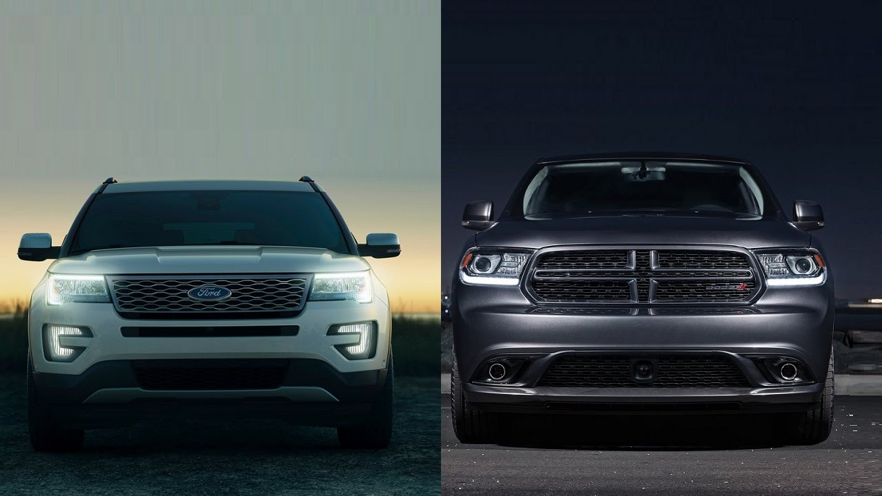 2016 Ford Explorer Vs Dodge Durango