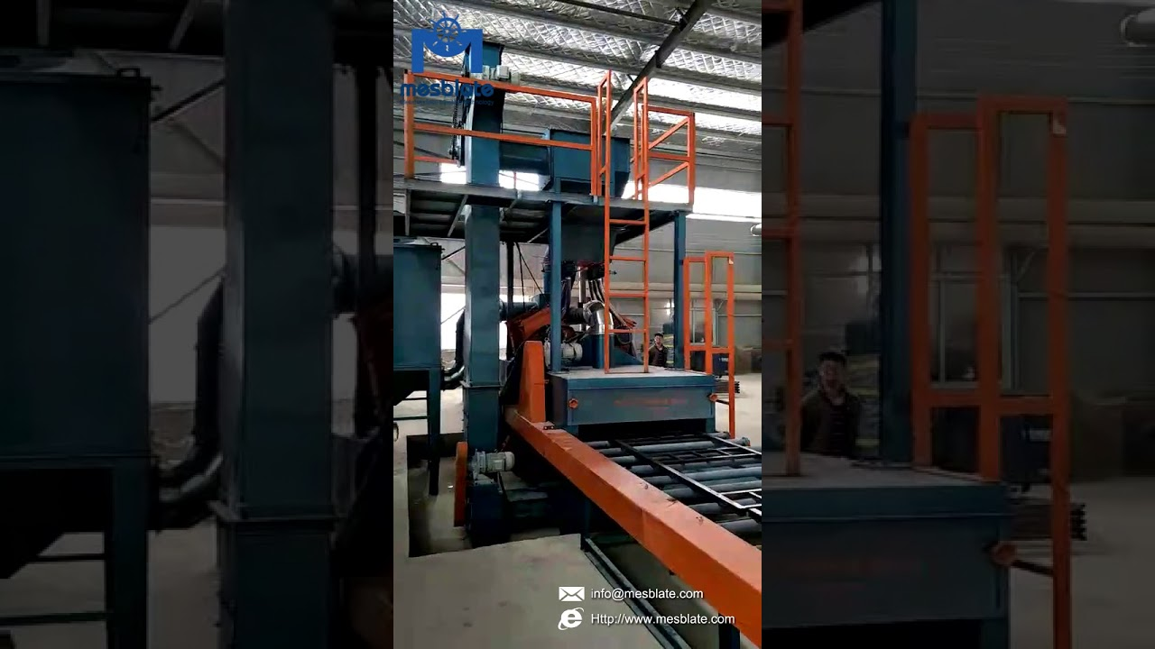 Roller Conveyor Shot Blasting Machine Video – Q6920 For Flat Profiles 1