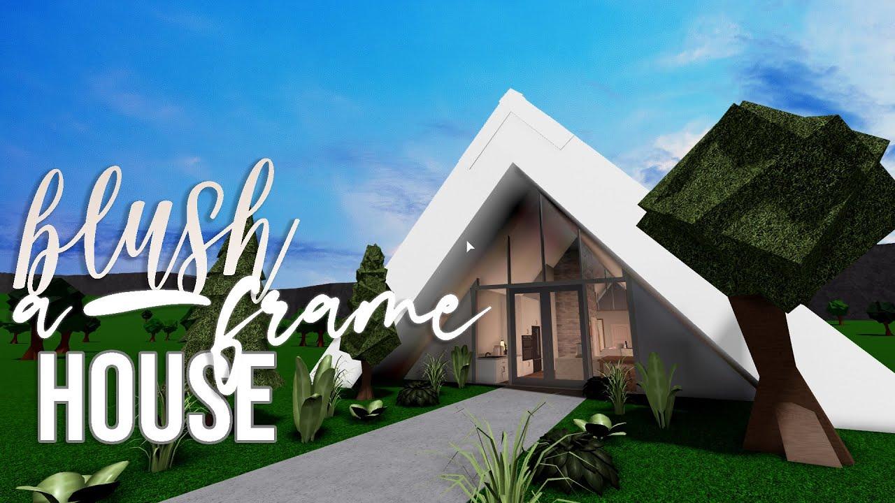 Roblox Houses For 50k Mini Mansion Bloxburg Blush A Frame House 50k House Build Youtube