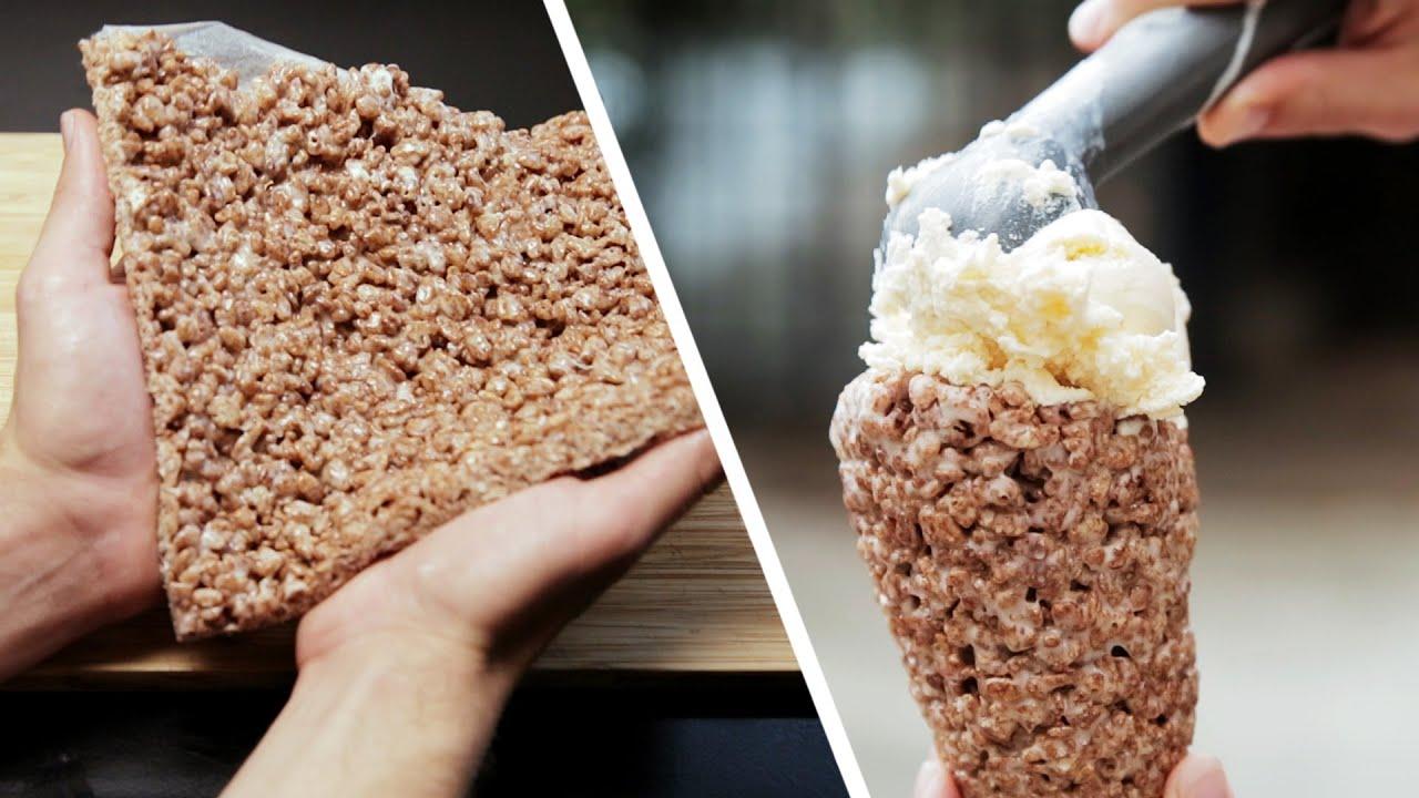 Cocoa Krispies Ice Cream Cone. Enough Said. - YouTube