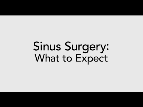 Sinus Surgery: What to Expect from Sinus Surgery (Sinus