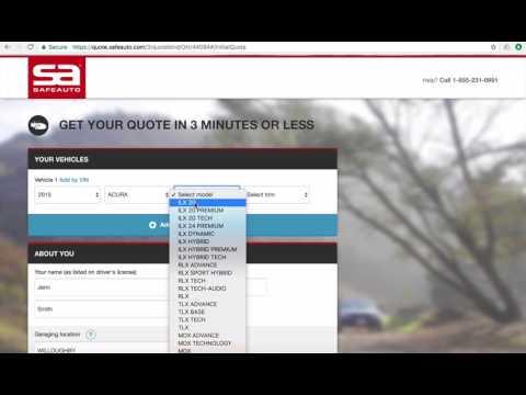 SafeAuto Car Insurance Quote Workflow
