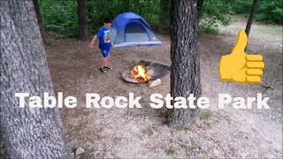 Camping at Table Rock State Park
