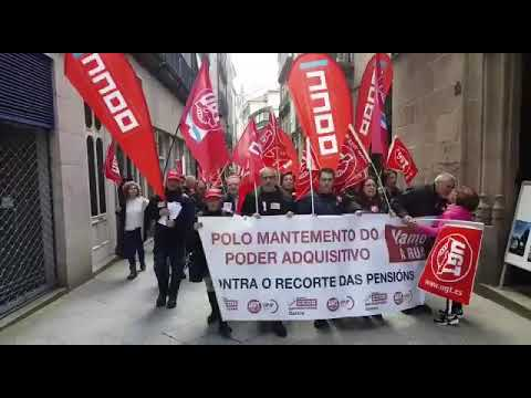 Protesta de pensionistas en Ourense