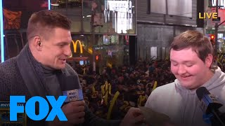 Gronk Gives Aiden Super Bowl Tickets FOX ENTERTAINMENT