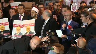 أصدقاء خاشقجي ينظمون وقفة خارج القنصلية السعودية في اسطنبول…
