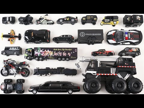 Learn Black Color with Street Vehicles for Kids Children Toddlers Babies | Kids Educational Video |