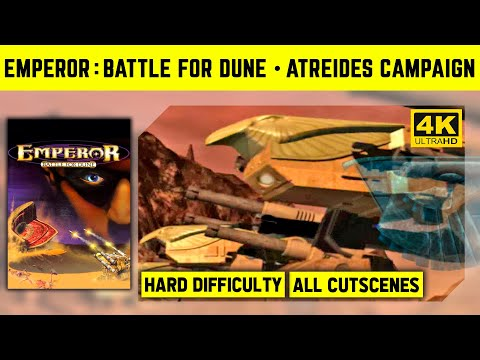 Emperor: Battle For Dune 4K - Atreides Campaign - Hard Difficulty - No Commantary Longplay