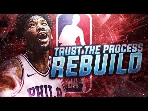 DRAFTING STUDS! TRUST THE PROCESS REBUILD! NBA 2K18