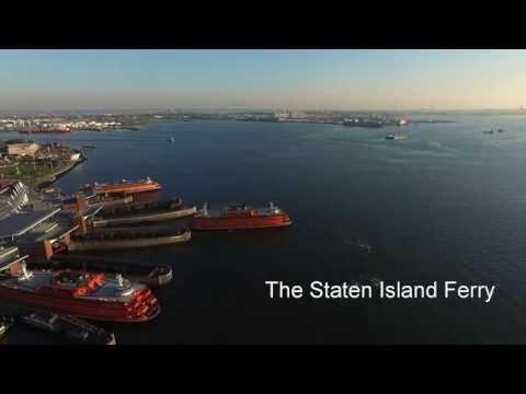 Staten Island Ferry (Drone view)