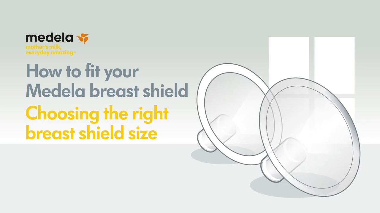 How To Fit Your Medela Breast Shield Youtube