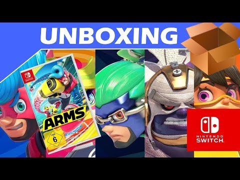 Short Unboxing - ARMS Standard Edition - Nintendo Switch - PAL Version