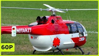 STUNNING XL RC SCALE BO-105 WITH FULL SCALE ROTORHED FLIGHT SHOW