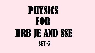 RRB JE AND SSE PREVIOUS YEAR QUESTIONS WITH EXPLANATION 2017 Video