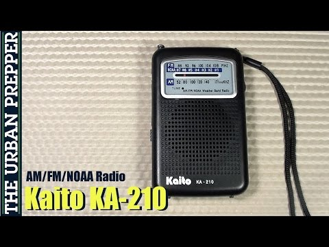 Kaito KA-210 AM/FM/NOAA Radio Review by TheUrbanPrepper