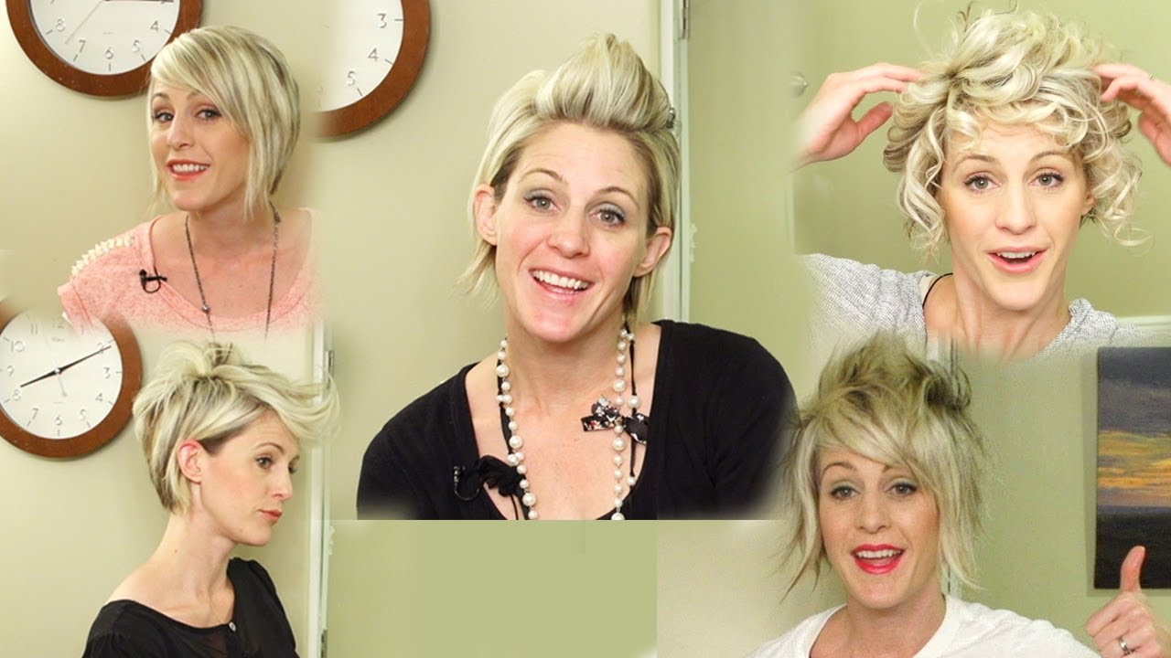 Different Ways To Style Short Hair 5 Ways To Style Short Hair  Youtube Hairstyles  Youtube