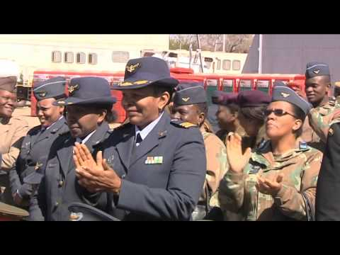South African women in military parade to celebrate Women's Month, Pretoria