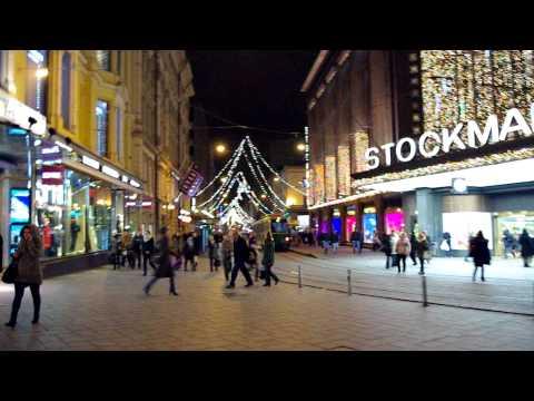 Stockmann & Aleksanterinkatu Christmas Lights (Joulukadun avajaiset), Helsinki Finland 2011